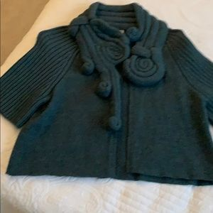 Anthropologie Moth Cropped sweater Caplet